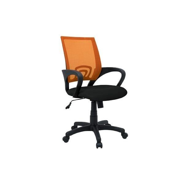 Otočná židle IAK91, černá-oranžová