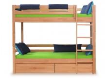 Poschoďová postel - palanda DOMINO D906/BC, masiv buk