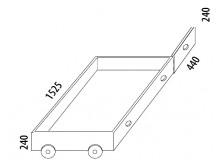 Úložný prostor tříčtvrteční D947 + krycí deska D948, masiv buk
