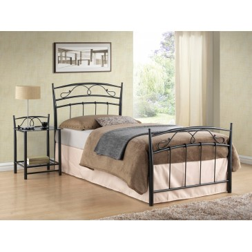 Kovová postel - jednolůžko CS4017, 90x200, černá