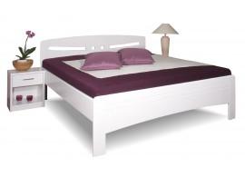 Zvýšená postel z masivu EVITA 6 senior 160x200, 180x200, masiv buk, bílá