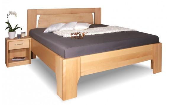 Manželská postel z masivu OLYMPIA 1. senior 160x200, 180x200, masiv buk
