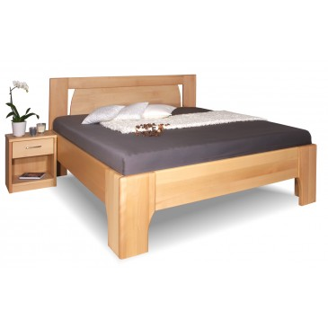 Manželská zvýšená postel z masivu OLYMPIA 1, 160x200, 180x200, masiv buk