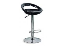 Barová židle 2-35E, kov/čalounění, černá