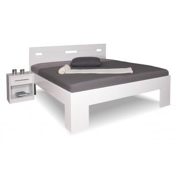 Manželská postel z masivu VAREZZA 6A 160x200, 180x200, masiv buk, bílá