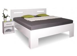 Manželská postel z masivu VAREZZA 5 senior 160x200, 180x200, masiv buk, bílá