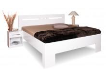 Manželská postel z masivu VAREZZA 1 senior 160x200, 180x200, masiv buk, bílá