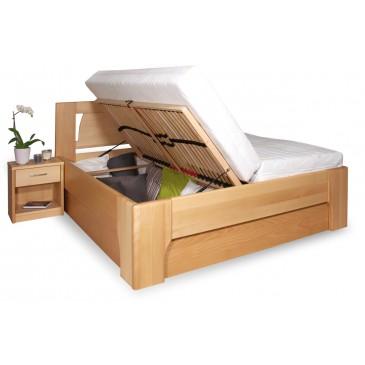 Manželská postel s úložným prostorem OLYMPIA 1. senior 160x200, 180x200, masiv buk