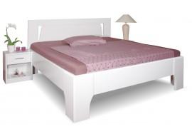 Manželská postel z masivu OLYMPIA 1. senior 160x200, 180x200, masiv buk, bílá