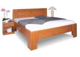 Manželská postel z masivu OLYMPIA 3. senior 160x200, 180x200, masiv buk, třešeň