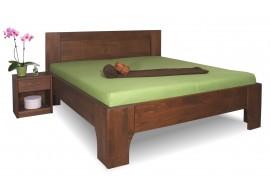 Manželská postel z masivu OLYMPIA 2. senior 160x200, 180x200, masiv buk, ořech