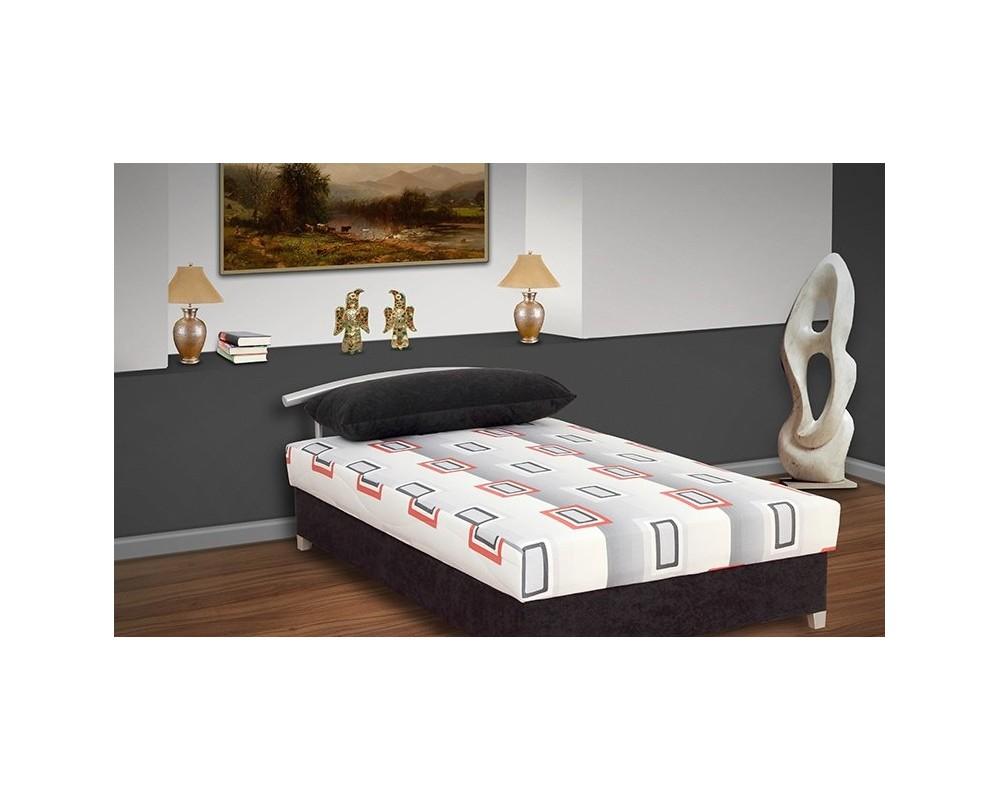 Zvýšená čalouněná postel s úložným prostorem KATKA, 120x200, černá