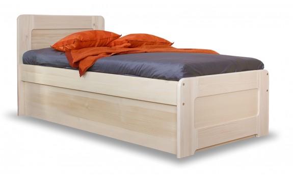 Zvýšená postel s úložným prostorem MARK senior 90x200, masiv smrk