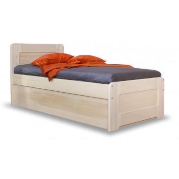 Zvýšená postel s úložným prostorem REMARK senior 90x200, masiv smrk