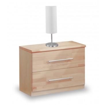 Noční stolek 2 - zásuvkový VK-NS2, masiv buk