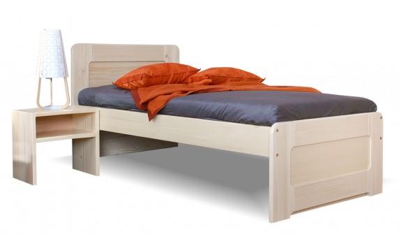 Zvýšená postel - jednolůžko MARK senior 90x200, masiv smrk