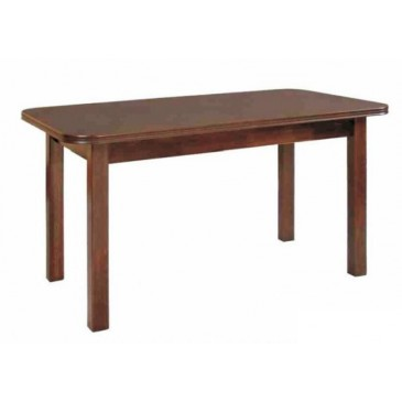 Rozkládací jídelní stůl WENUS 2, masiv/dýha, 140x80 cm