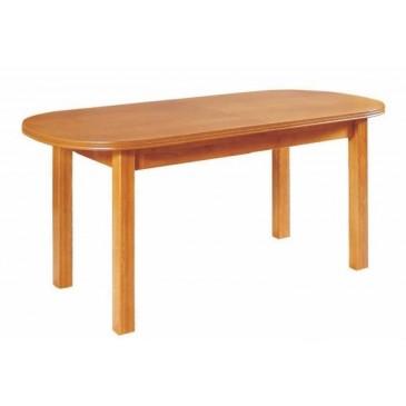 Oválný rozkládací jídelní stůl WENUS 3, masiv/dýha, 160x80 cm