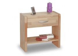 Noční stolek 1 - zásuvkový VK-NZ1, masiv buk