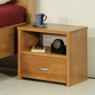 Noční stolek 1 - zásuvkový VK-NA1, masiv buk