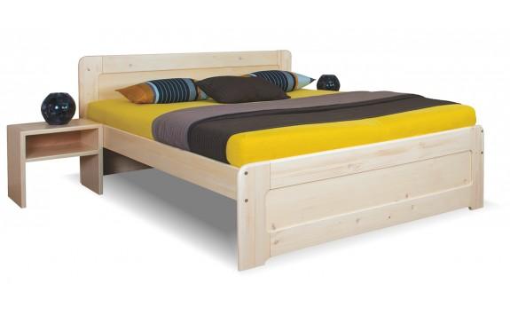 Zvýšená postel z masivu REMARK 1 č.157/S 180x200, masiv smrk