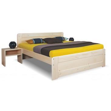 Zvýšená postel - dvoulůžko REMARK 180x200, masiv smrk