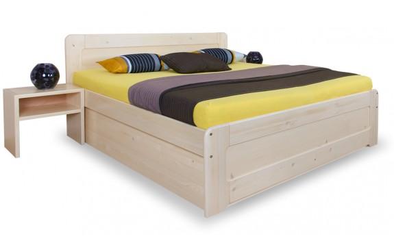 Zvýšená postel s úložným prostorem MARK senior č.155/S 180x200, masiv smrk
