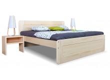 Zvýšená postel - dvoulůžko REMARK 2 180x200, masiv smrk