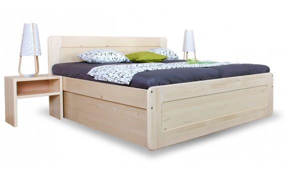 Zvýšená postel s úložným prostorem REMARK senior 180x200, masiv smrk