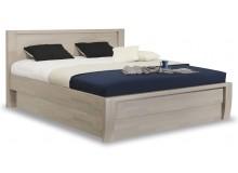 Masivní postel s úložným prostorem ERIKA senior, jádrový masiv buk