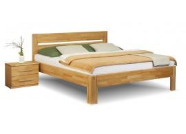 Masivní postel - dvoulůžko ANETA senior, jádrový masiv buk