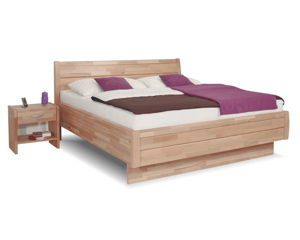 Zvýšená postel TAMARA senior, jádrový masiv buk