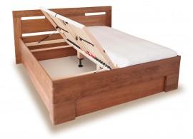 Zvýšená postel s úložným prostorem VAREZZA 5 senior 160x200, 180x200, masiv buk
