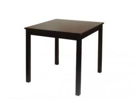Jídelní stůl z masivu IA8842H, 75x75, masiv borovice - tmavěhnědý lak