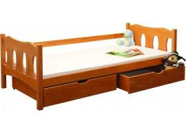 Dětská postel s úložným prostorem BR438, 90x200, masiv smrk