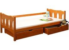 Dětská postel s úložným prostorem BR438, 90x200, masiv smrk - 1 ks skladem !!!