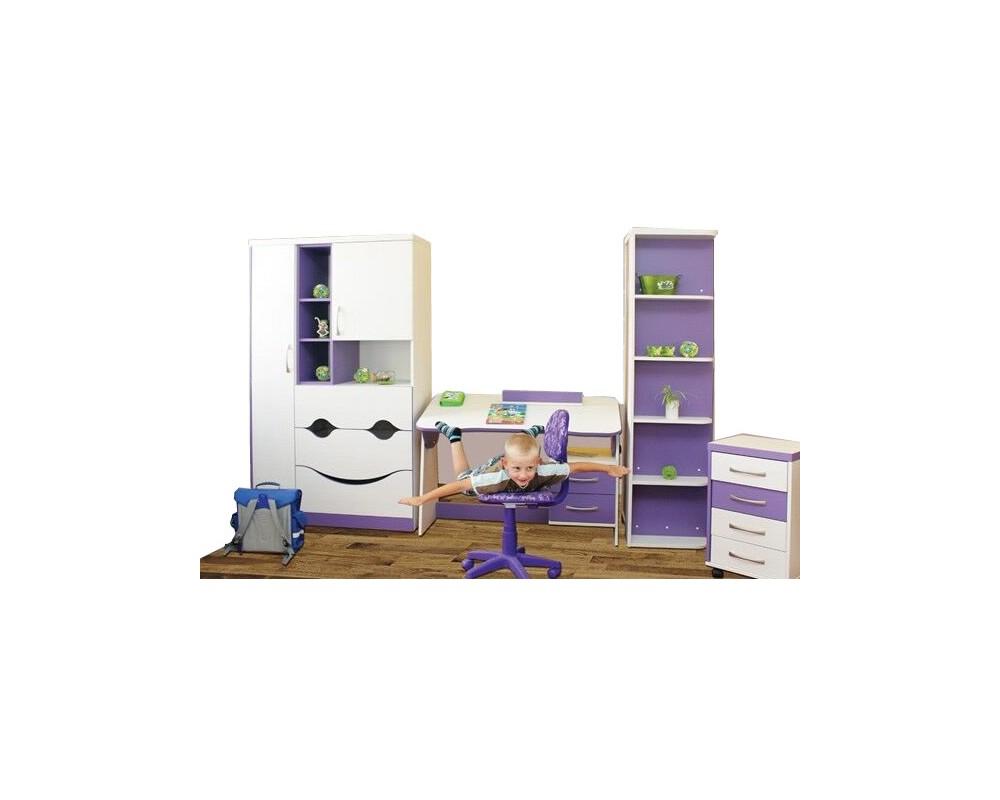Dětský nábytek VIOLET, lamino -fialovo-bílá