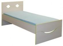 Dětská postel - jednolůžko CR108, zeleno-bílá - 1 ks skladem !!!