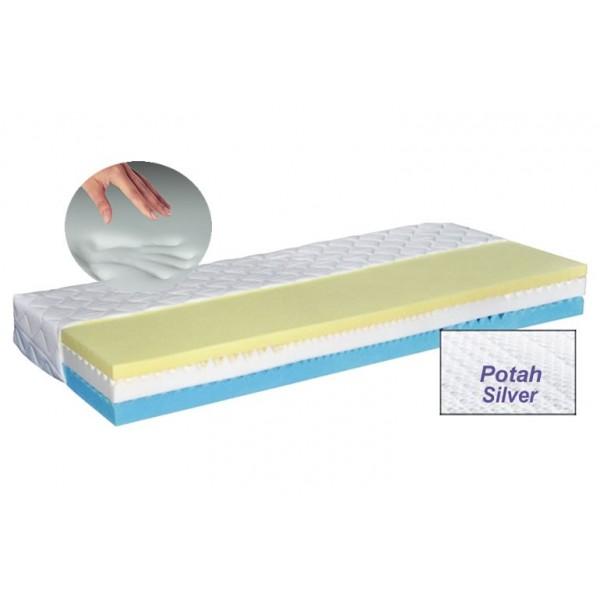 Zdravotní matrace LUX MEMORY SILVER, 180x200 líná paměťová pěna, 1ks skladem!