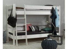 Dětská poschoďová postel Sendy 300W/05, masiv smrk - bílá
