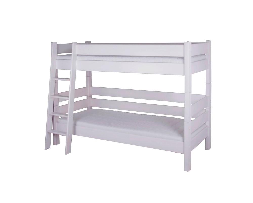 Dětská poschoďová postel Sendy 300W/01, masiv smrk - bílá