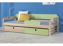 Dětská postel s úložným prostorem NATY, masiv borovice