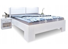 Manželská postel z masivu MANHATTAN 2 senior, 160x200, 180x200, masiv buk - bílá
