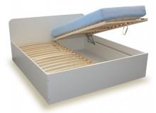 Manželská postel s úložným prostorem, čelní výklop OTO 180x200 - ořech, 1 ks skladem!!!