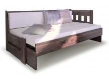 Rozkládací postel ze smrku ARLETA TWIN - Pravá