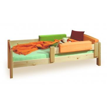Dětská postel se zadní zábranou SENDY 90x200, masiv smrk