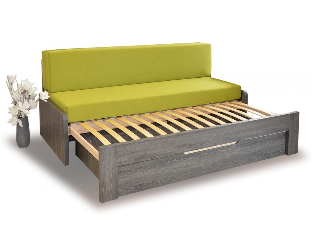 Rozkládací postel s lamelovým roštem DUOVITA, lamino