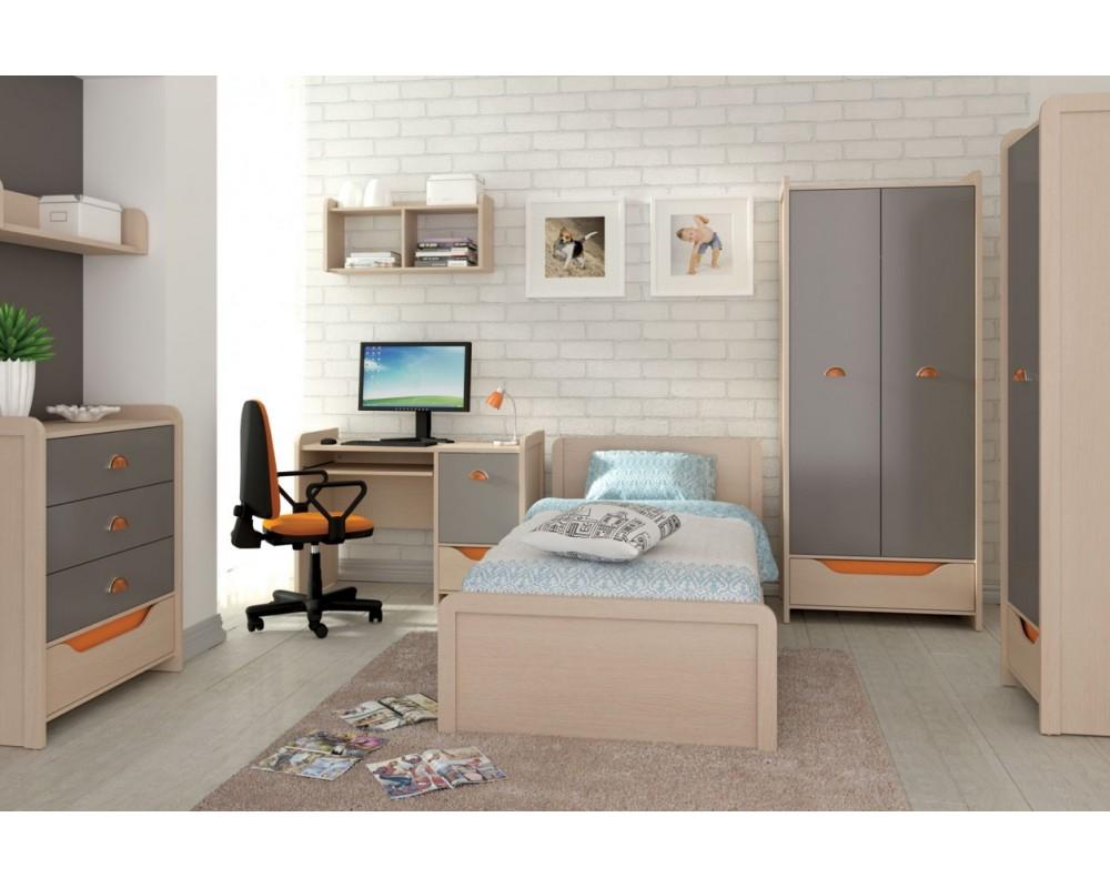 Dětský nábytek PUPI, lamino šedo/oranžový