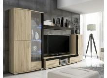 Moderní obývací stěna OREGON, dub-černá
