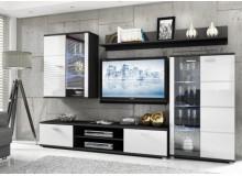 Moderní obývací stěna SHINE, bílá lesk
